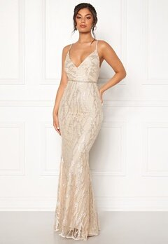 Moments New York Delphine Beaded Gown Champagne Bubbleroom.dk
