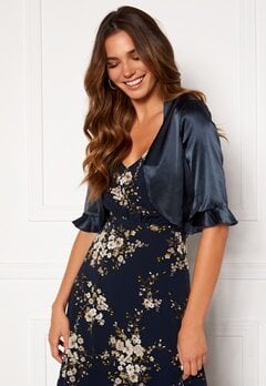 Moments New York Denise Satin Cover Up Navy Bubbleroom.dk