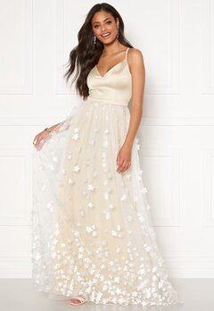 Moments New York Eline Flower Gown Champagne Bubbleroom.dk