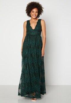 Moments New York Ella Lace Gown Dark green bubbleroom.dk