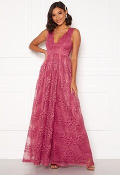 Moments New York Ella Lace Gown Raspberry red Bubbleroom.dk