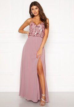 Moments New York Elouise Sequin gown Dusty lilac Bubbleroom.dk