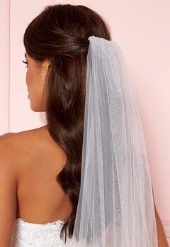 Moments New York Embroidery Veil White Bubbleroom.dk
