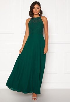 Moments New York Evelyn Lace Gown Dark green Bubbleroom.dk