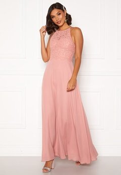 Moments New York Evelyn Lace Gown Pink Bubbleroom.dk