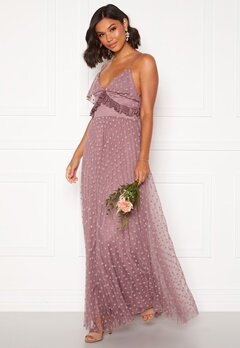 Moments New York Flora Frill gown Dusty lilac Bubbleroom.dk