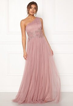 Moments New York Florine Mesh Gown Old rose Bubbleroom.dk