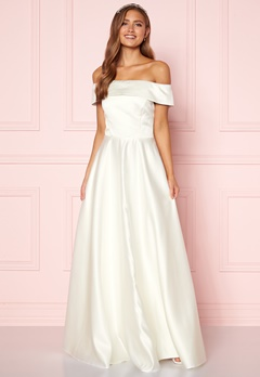 Moments New York Gabrielle Wedding Gown White Bubbleroom.dk