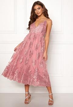 Moments New York Gardenia Lace Dress Dusty pink Bubbleroom.dk