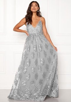 Moments New York Gardenia Lace Gown Blue-grey Bubbleroom.dk