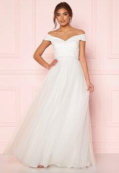 Moments New York Hanna Wedding Gown White Bubbleroom.dk