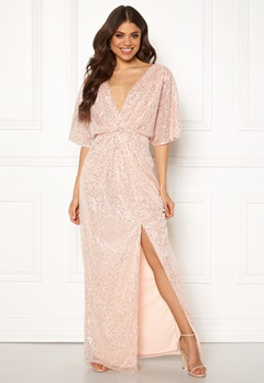 Moments New York Holly Beaded Gown Champagne Bubbleroom.dk