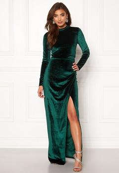 Moments New York Inda Velvet Gown Dark green Bubbleroom.dk