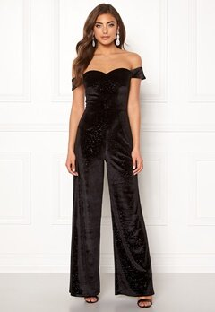 Moments New York Inda Velvet Jumpsuit Black Bubbleroom.dk