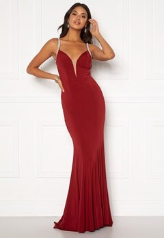 Moments New York Irina Sparkle Gown Wine-red Bubbleroom.dk