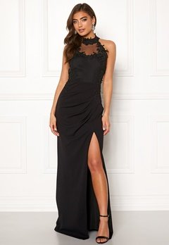 Moments New York Iris Drape Gown Black Bubbleroom.dk