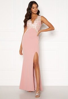 Moments New York Isabella Lace Gown Dusty pink Bubbleroom.dk