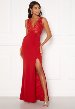 Moments New York Isabella Lace Gown Red Bubbleroom.dk