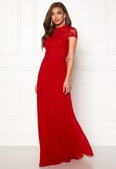 Moments New York Kassia Crochet Gown Red Bubbleroom.dk