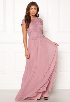 Moments New York Kassia Crochet Gown Dusty lilac Bubbleroom.dk