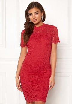 Moments New York Kassia Lace Dress Red Bubbleroom.dk