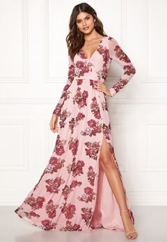 Moments New York Columbine Mesh Gown Pink / Patterned Bubbleroom.dk