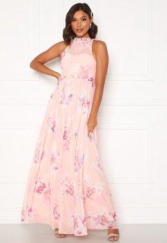 Moments New York Lavender Floral Gown Floral Bubbleroom.dk