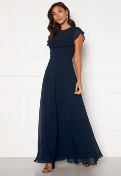 Moments New York Lea Frill Gown Navy Bubbleroom.dk