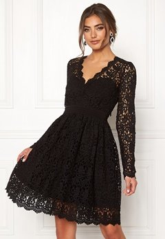 Moments New York Leyla Crochet Dress Black Bubbleroom.dk