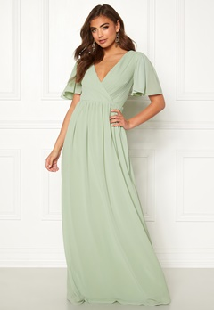 Moments New York Liana Chiffon Gown Light green Bubbleroom.dk