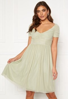Moments New York Lily Draped Dress Dusty green Bubbleroom.dk