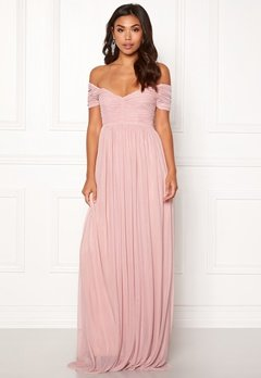 Moments New York Lily Draped Gown Dusty pink Bubbleroom.dk
