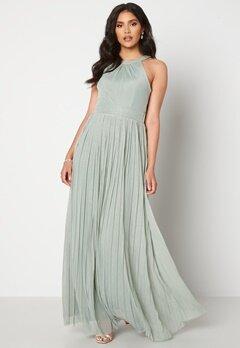 Moments New York Linnea Pleated Gown Jade-green bubbleroom.dk