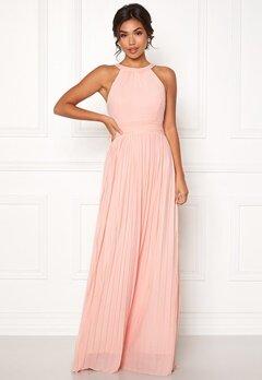 Moments New York Linnea Pleated Gown Light pink Bubbleroom.dk