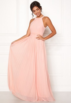 Moments New York Linnea Pleated Gown Rosa Bubbleroom.dk