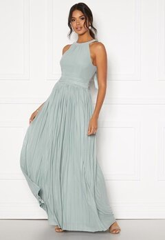 Moments New York Linnea Pleated Gown Jade-green Bubbleroom.dk