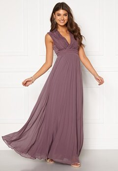 Moments New York Loana Crochet Gown Light lilac Bubbleroom.dk