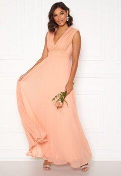 Moments New York Loana Crochet Gown Light pink Bubbleroom.dk
