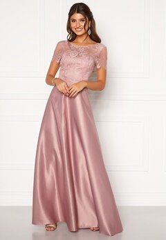 Moments New York Madeleine Satin Gown Light lilac Bubbleroom.dk