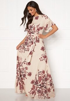 Moments New York Maja Printed Gown Floral Bubbleroom.dk