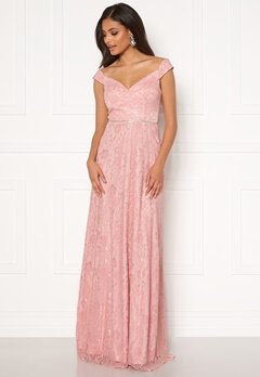 Moments New York Melina Lace Gown Light pink Bubbleroom.dk