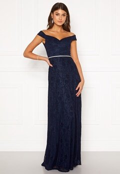 Moments New York Melina Lace Gown Navy Bubbleroom.dk