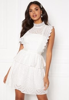 Moments New York Olivia Crochet Dress White Bubbleroom.dk