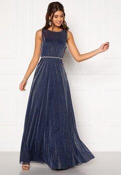 Moments New York Ophelia Lurex Gown Navy Bubbleroom.dk