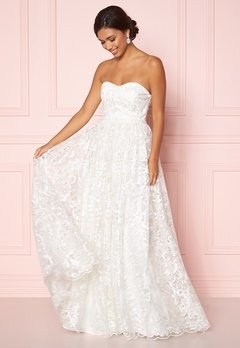 Moments New York Peony Wedding Gown White Bubbleroom.dk