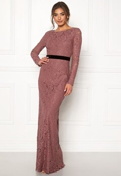 Moments New York Romy Lace Gown Old rose Bubbleroom.dk