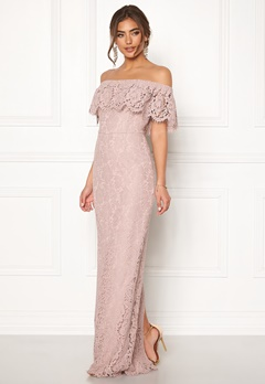 Moments New York Rose Lace Gown Dusty lilac Bubbleroom.dk