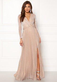 Moments New York Sienna Lurex Gown Champagne Bubbleroom.dk