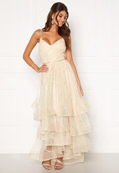 Moments New York Sophia Mesh Gown Champagne Bubbleroom.dk
