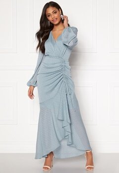 Moments New York Thea Dotted Gown Light blue Bubbleroom.dk